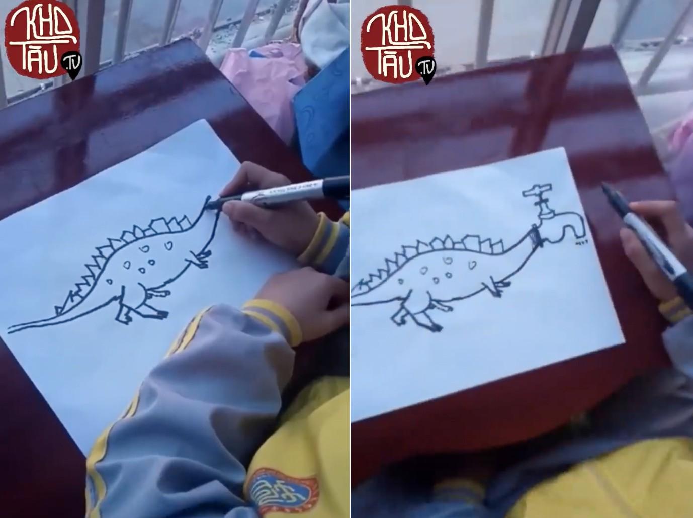 Tài năng có hạn nhưng vẫn thích thể hiện, anh trai vẽ rồng giúp em gái và cái kết cười ra nước mắt - Ảnh 1.