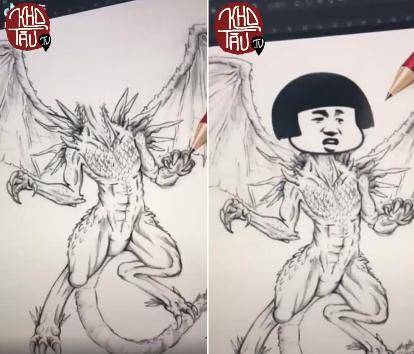 Tài năng có hạn nhưng vẫn thích thể hiện, anh trai vẽ rồng giúp em gái và cái kết cười ra nước mắt - Ảnh 5.