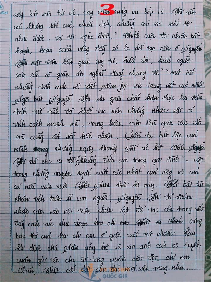 Bài văn 9,5 điểm về tình cảm gia đình khiến cô giáo phải thốt lên: Mọi ngôn từ đều trở nên bất lực! - Ảnh 3.