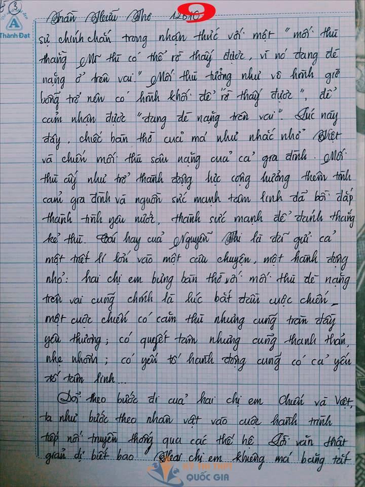 Bài văn 9,5 điểm về tình cảm gia đình khiến cô giáo phải thốt lên: Mọi ngôn từ đều trở nên bất lực! - Ảnh 9.