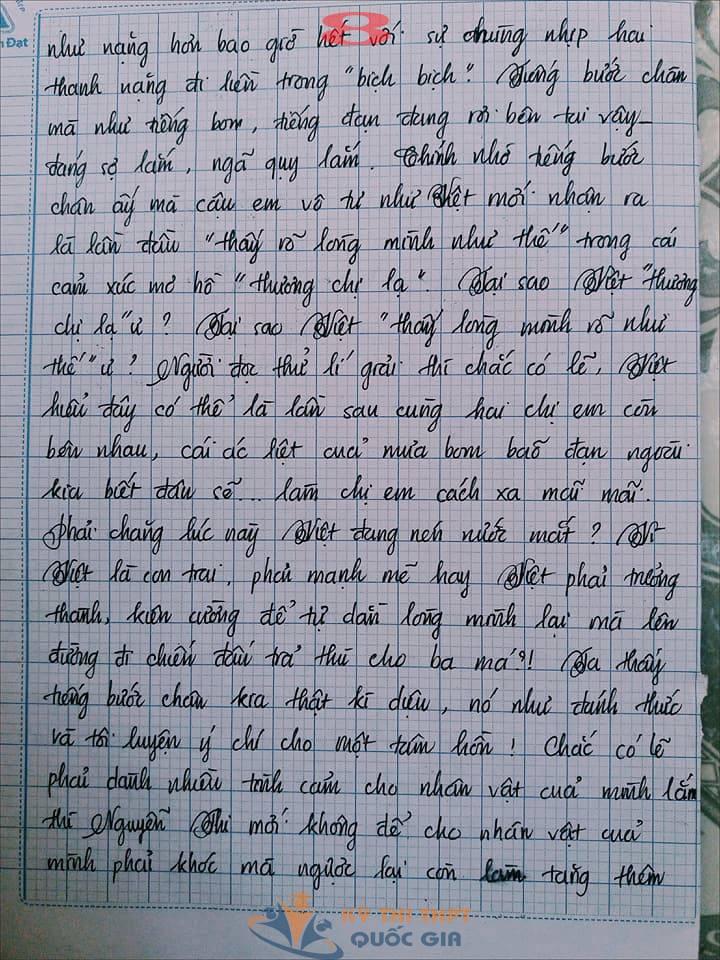 Bài văn 9,5 điểm về tình cảm gia đình khiến cô giáo phải thốt lên: Mọi ngôn từ đều trở nên bất lực! - Ảnh 8.