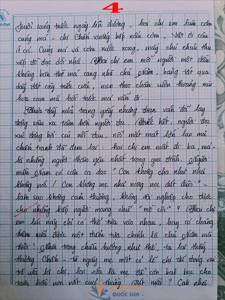 Bài văn 9,5 điểm về tình cảm gia đình khiến cô giáo phải thốt lên: Mọi ngôn từ đều trở nên bất lực! - Ảnh 4.