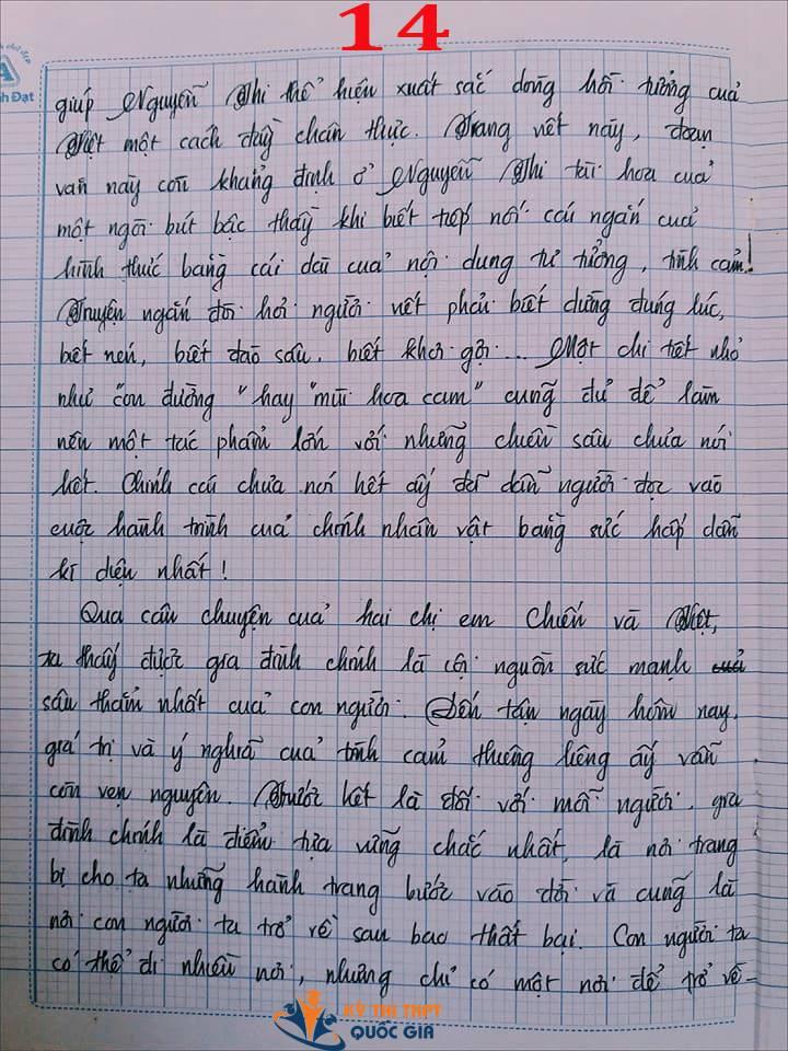 Bài văn 9,5 điểm về tình cảm gia đình khiến cô giáo phải thốt lên: Mọi ngôn từ đều trở nên bất lực! - Ảnh 14.