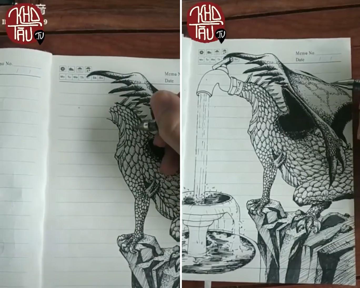 Tài năng có hạn nhưng vẫn thích thể hiện, anh trai vẽ rồng giúp em gái và cái kết cười ra nước mắt - Ảnh 9.