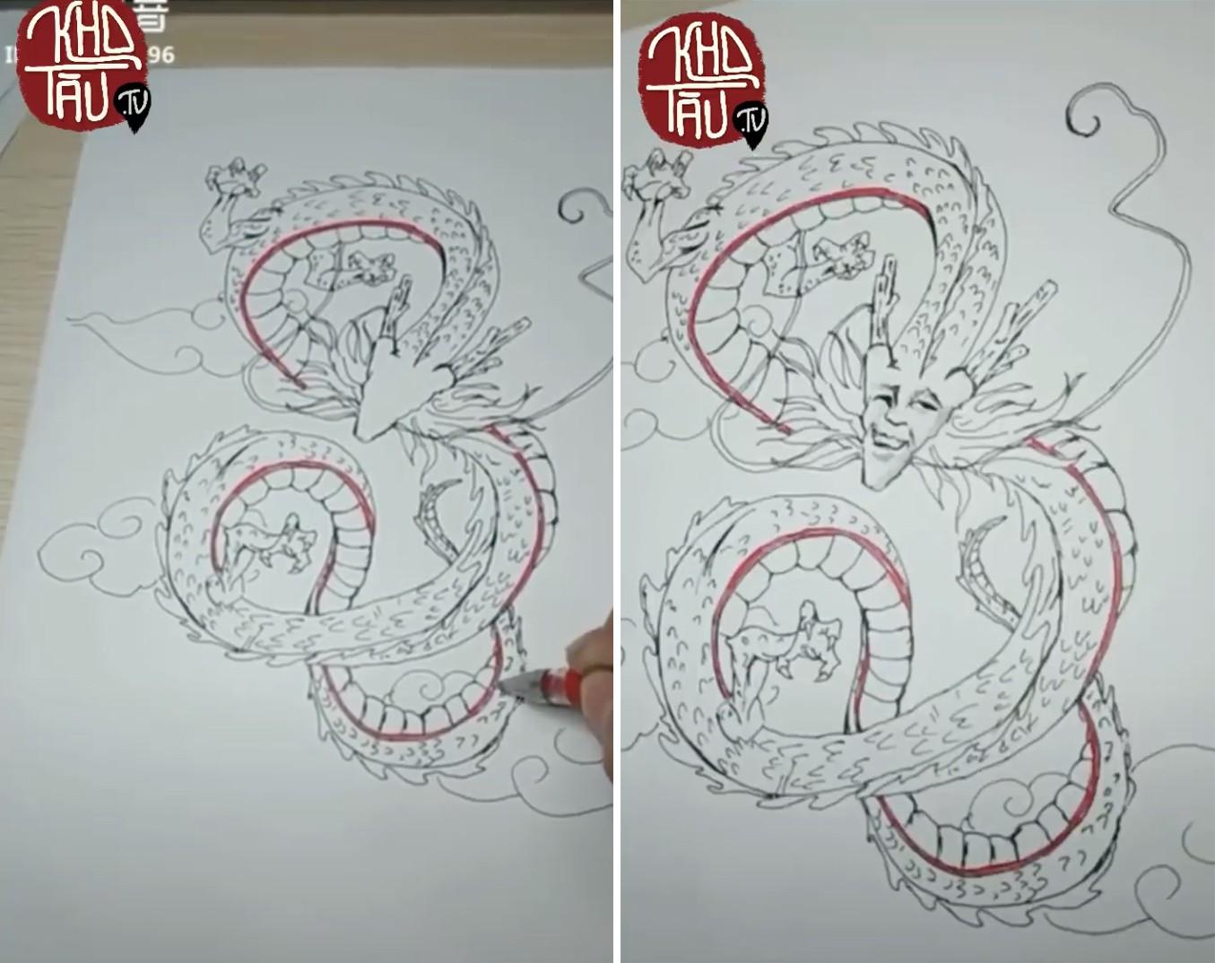 Tài năng có hạn nhưng vẫn thích thể hiện, anh trai vẽ rồng giúp em gái và cái kết cười ra nước mắt - Ảnh 13.