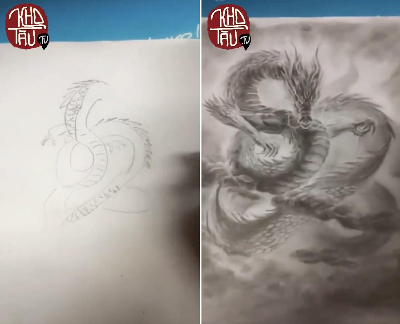 Tài năng có hạn nhưng vẫn thích thể hiện, anh trai vẽ rồng giúp em gái và cái kết cười ra nước mắt - Ảnh 15.