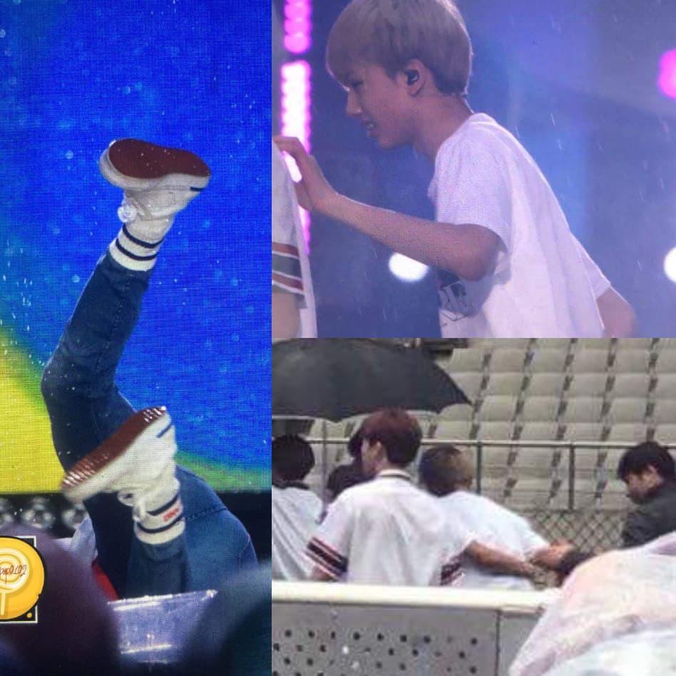 Idol nhọ nhất Dream Concert 2018: Ngã 3 lần, đập mạnh vai và đầu xuống sàn sân khấu - Ảnh 1.