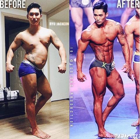 Muốn có động lực tập gym, hãy nhìn sự lột xác của soái ca Hàn Quốc này - Ảnh 3.