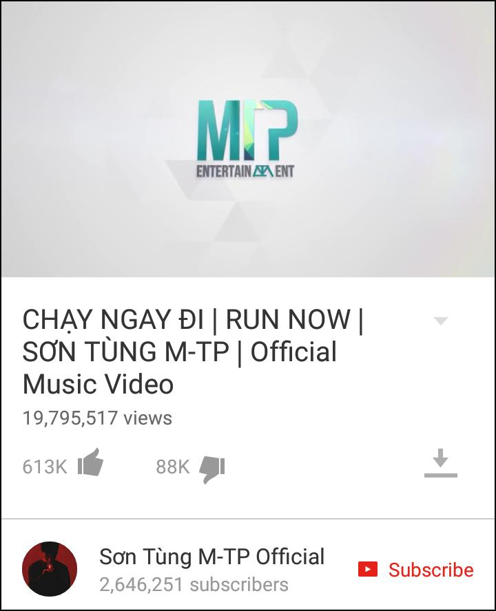 Vì sao Chạy ngay đi được nói là kỷ lục 22 triệu view nhưng thực tế YouTube chỉ hiện 19 triệu? - Ảnh 1.
