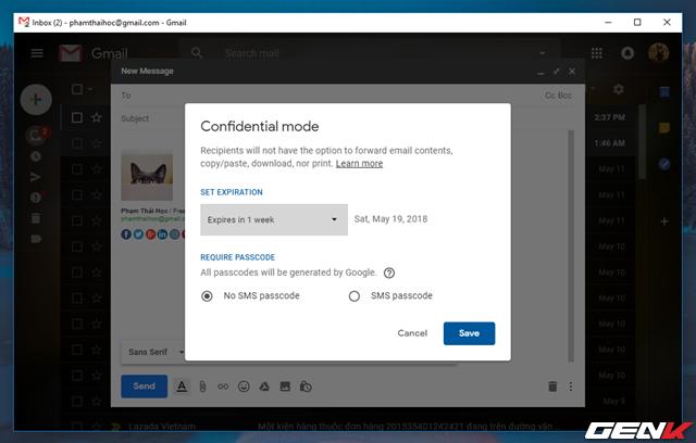 Đã có tính năng gửi email bí mật trong Gmail, và đây là cách sử dụng - Ảnh 5.