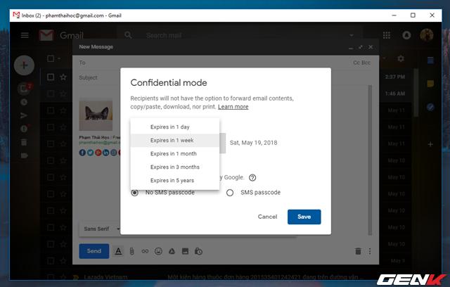 Đã có tính năng gửi email bí mật trong Gmail, và đây là cách sử dụng - Ảnh 6.