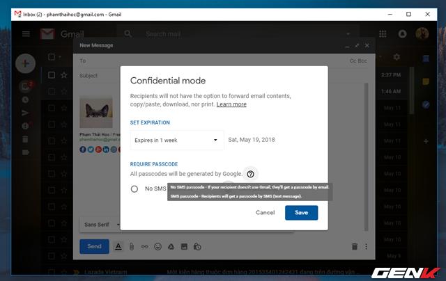 Đã có tính năng gửi email bí mật trong Gmail, và đây là cách sử dụng - Ảnh 7.