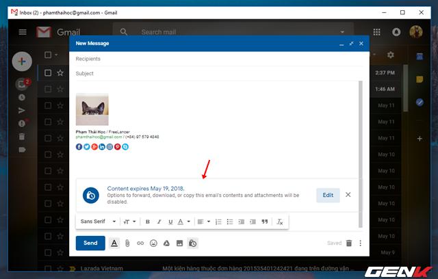 Đã có tính năng gửi email bí mật trong Gmail, và đây là cách sử dụng - Ảnh 8.