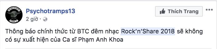 Phạm Anh Khoa bị gạch tên khỏi chương trình nhạc Rock sau ồn ào xin lỗi chuyện gạ tình - Ảnh 2.