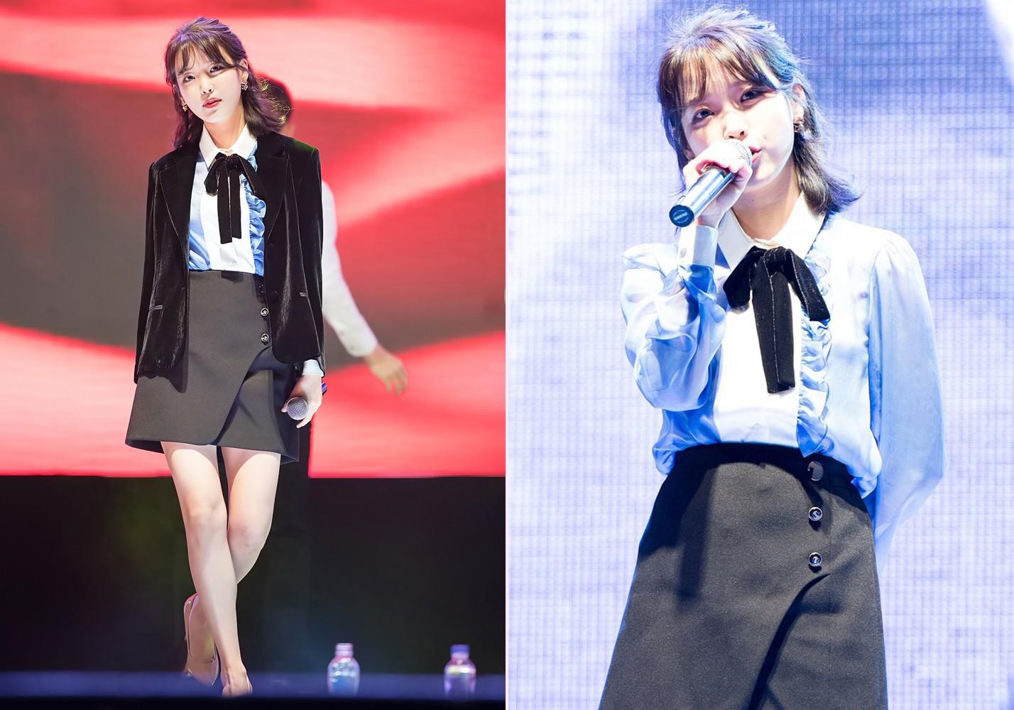 """Một chiếc áo mà 9 idol cùng mặc: Lisa (Black Pink) """"ngầu"""" hết cỡ, IU lại trẻ như học sinh - Ảnh 2."""