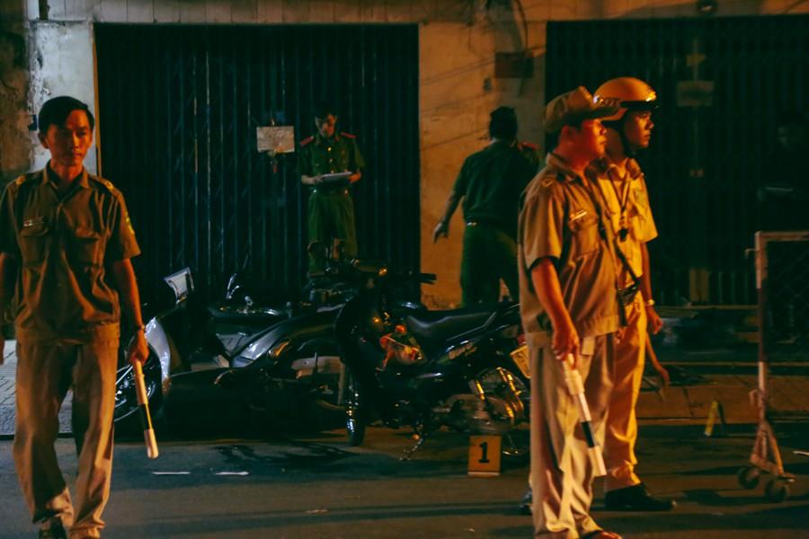 Hiện trường vụ án mạng kinh hoàng trên đường CMT8 khiến 6 hiệp sĩ đường phố bị băng cướp đâm thương vong - Ảnh 12.
