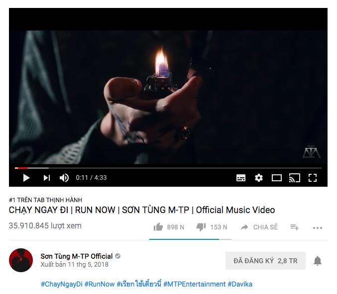 Sau hơn 1 ngày mất tích bí ẩn, MV Chạy ngay đi của Sơn Tùng M-TP trở lại Top 1 Trending Youtube - Ảnh 1.