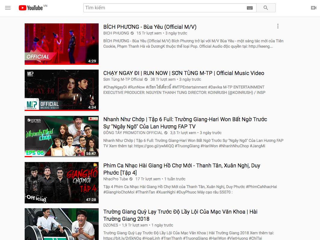 Vừa trở lại No.1 Top Trending Youtube vài giờ, Chạy ngay đi lại bất ngờ mất hạng về tay Bùa yêu - Ảnh 1.
