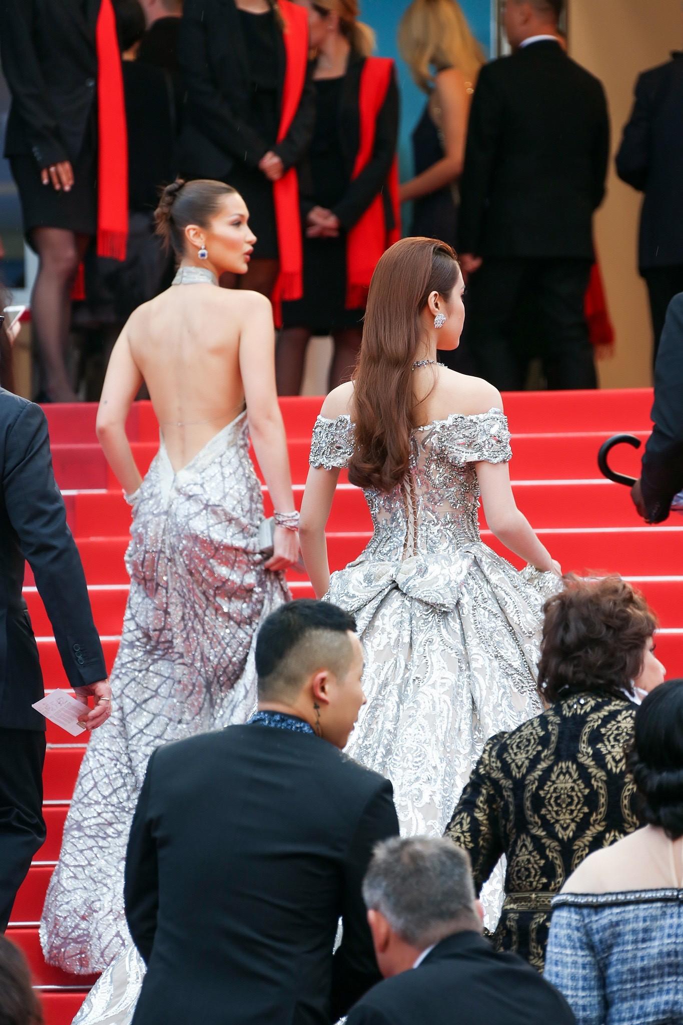 Lần đầu đến Cannes, bản sao Ngọc Trinh xuất hiện lộng lẫy trên thảm đỏ với trang sức tiền tỷ - Ảnh 4.