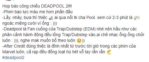 Fan Việt cười sảng sau khi xem bom tấn hài bựa Deadpool 2 - Ảnh 2.