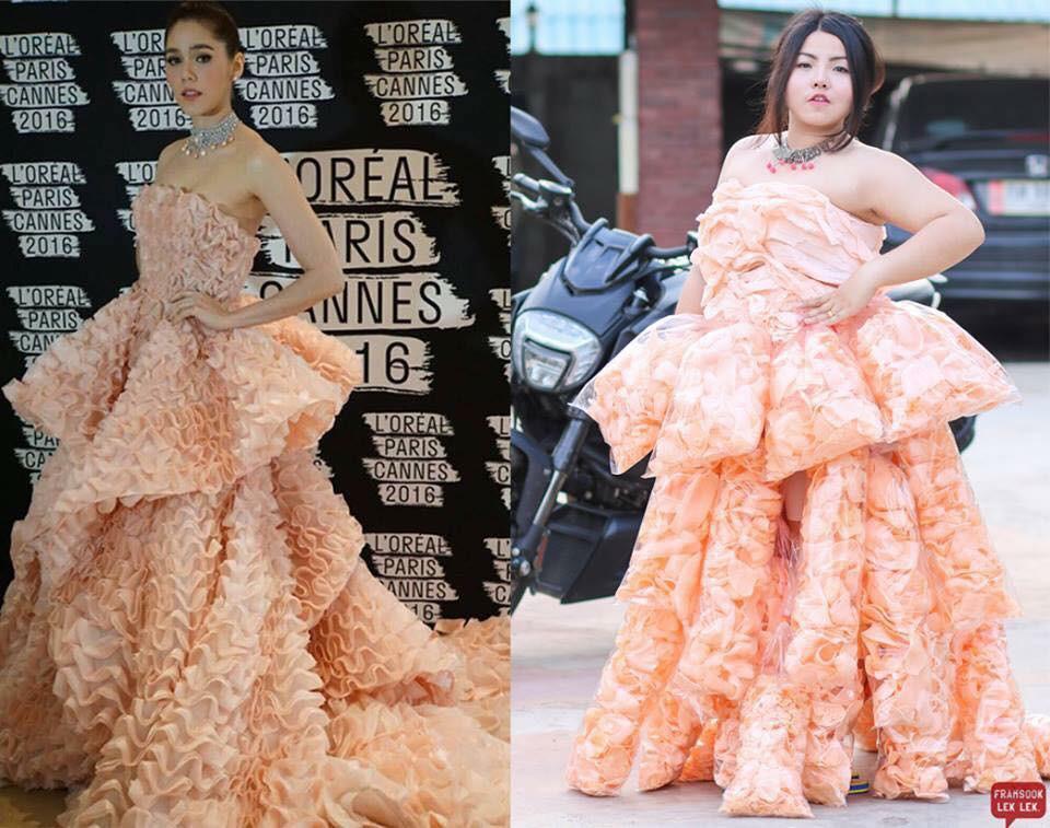 Cosplay hàng hiệu thời trang bằng cách tự làm váy áo bằng đồ ăn, cô bạn Thái Lan tự tin chặt chém mọi nhân vật đình đám - Ảnh 8.