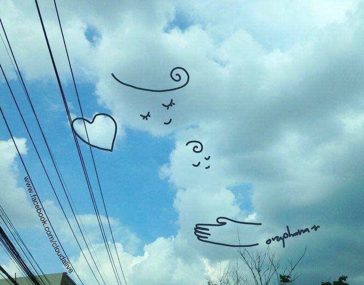 Danh tính tác giả của những bức vẽ đám mây cực dễ thương đang gây sốt MXH - Ảnh 8.