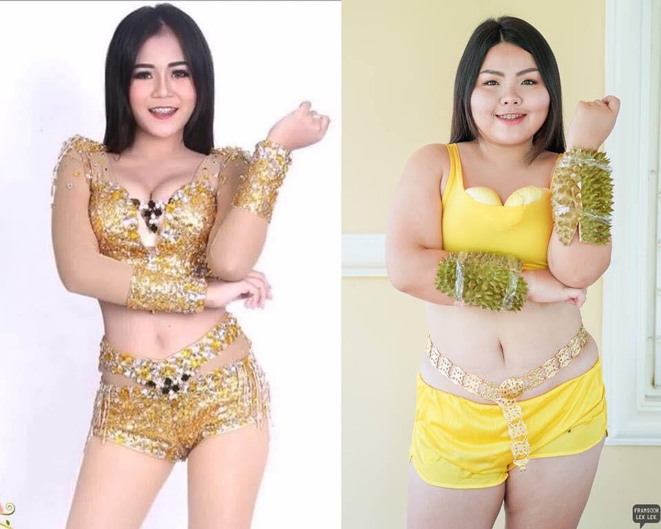 Cosplay hàng hiệu thời trang bằng cách tự làm váy áo bằng đồ ăn, cô bạn Thái Lan tự tin chặt chém mọi nhân vật đình đám - Ảnh 12.