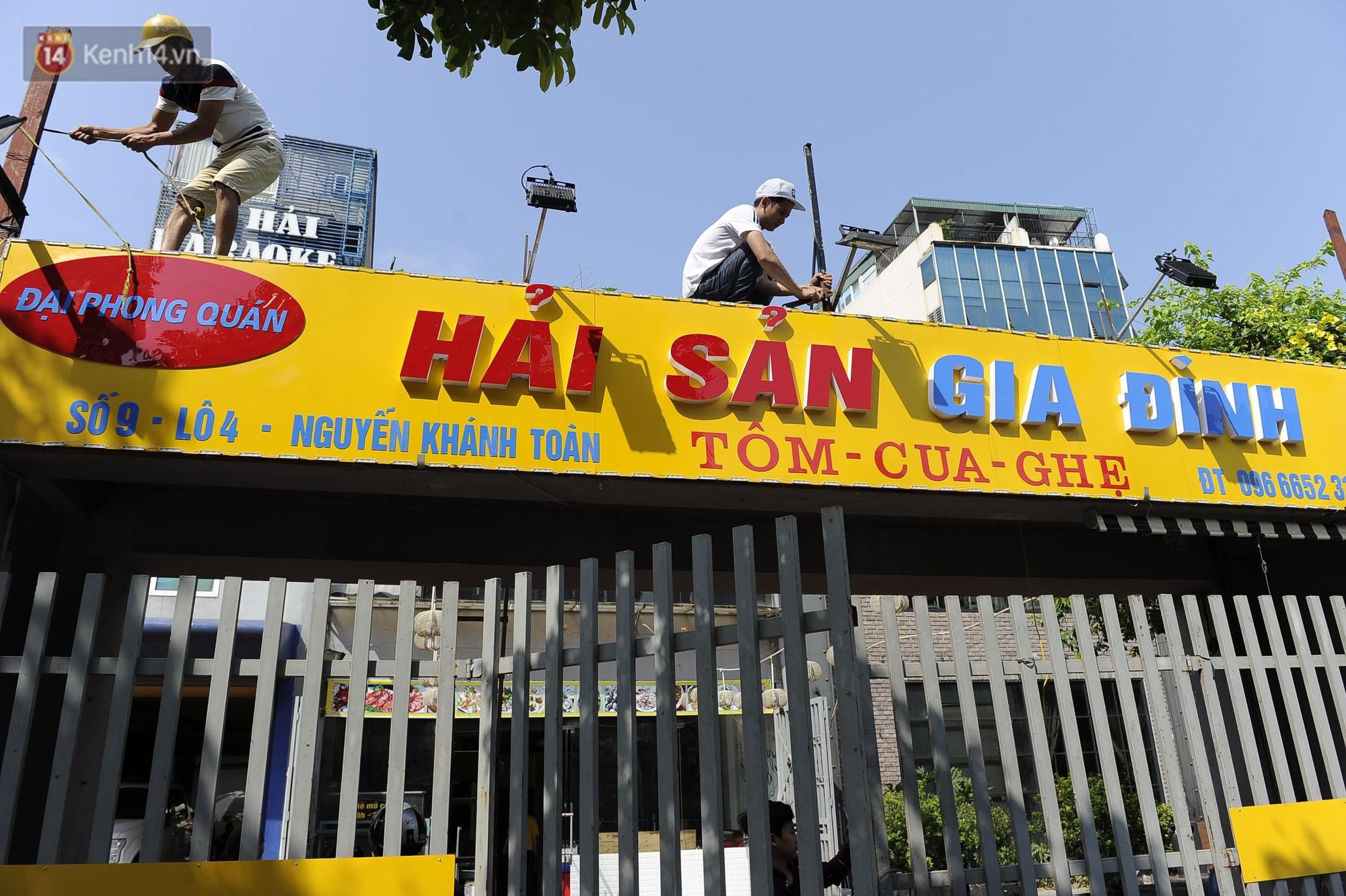 Hà Nội bắt đầu cưỡng chế 42 cơ sở kinh doanh vi phạm trật tự đô thị trên đất vàng Nguyễn Khánh Toàn - Ảnh 5.