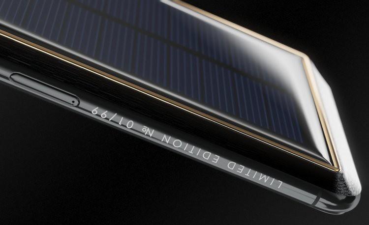 Xuất hiện iPhone X Tesla giá gần tỷ đồng, có pin mặt trời lướt web cả ngày không lo hết - Ảnh 4.