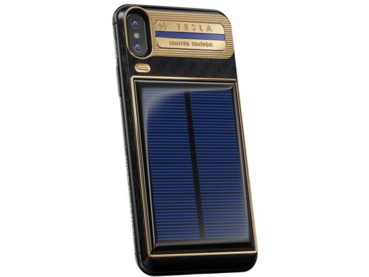 Xuất hiện iPhone X Tesla giá gần tỷ đồng, có pin mặt trời lướt web cả ngày không lo hết - Ảnh 5.