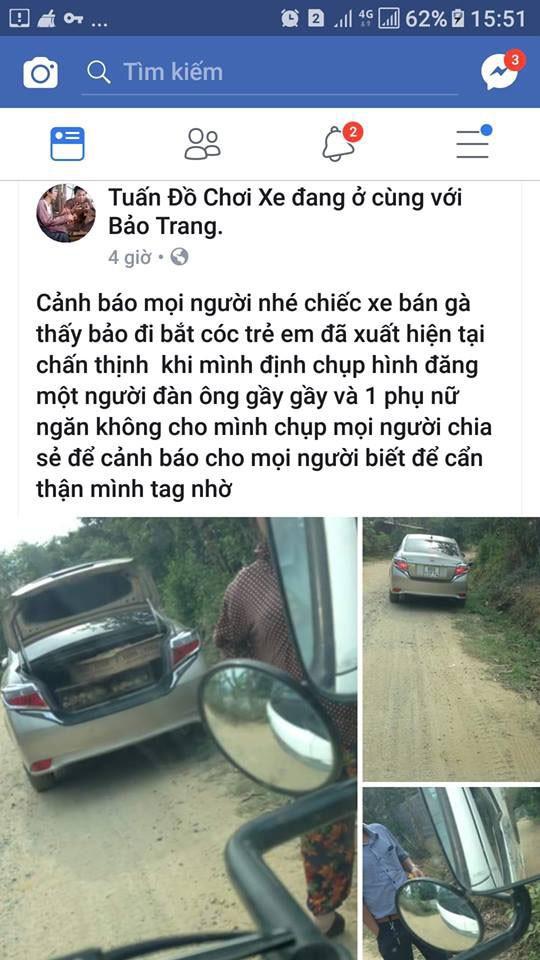 Dân vây bắt hai vợ chồng đi ô tô bán gà giống vì nghi ngờ bắt cóc trẻ em - Ảnh 6.