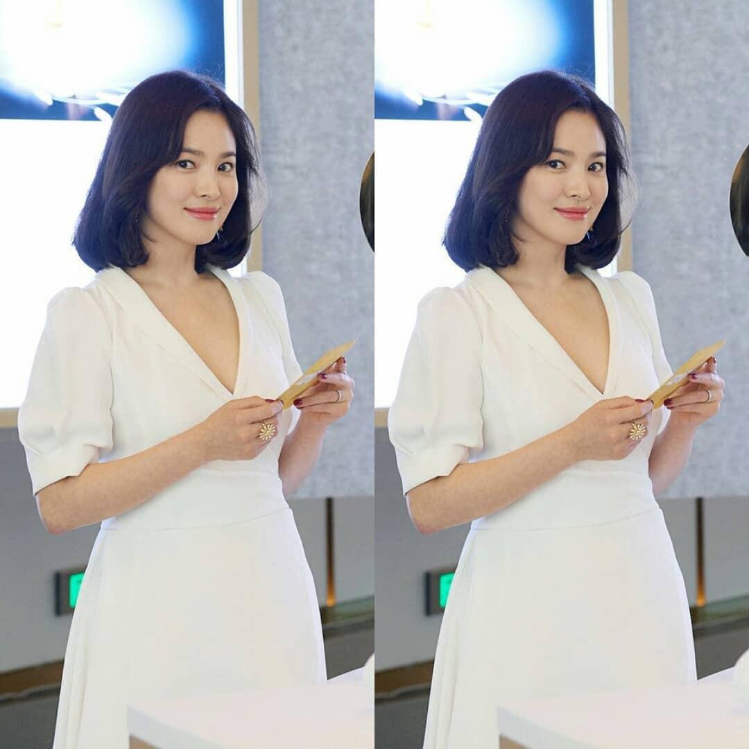 Lộ vòng eo bất thường, Song Hye Kyo lại bị đồn đang mang thai đứa con đầu lòng với Song Joong Ki - Ảnh 2.