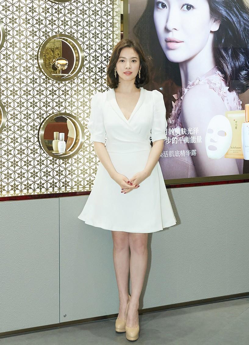 Lộ vòng eo bất thường, Song Hye Kyo lại bị đồn đang mang thai đứa con đầu lòng với Song Joong Ki - Ảnh 3.