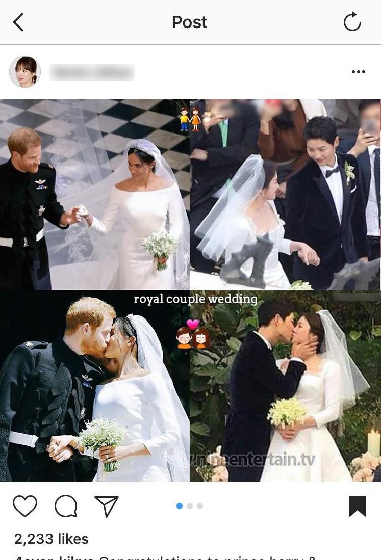 Rần rần trước loạt chi tiết trùng khớp giữa đám cưới Hoàng Gia Anh và hôn lễ thế kỷ của Song Song - Ảnh 1.