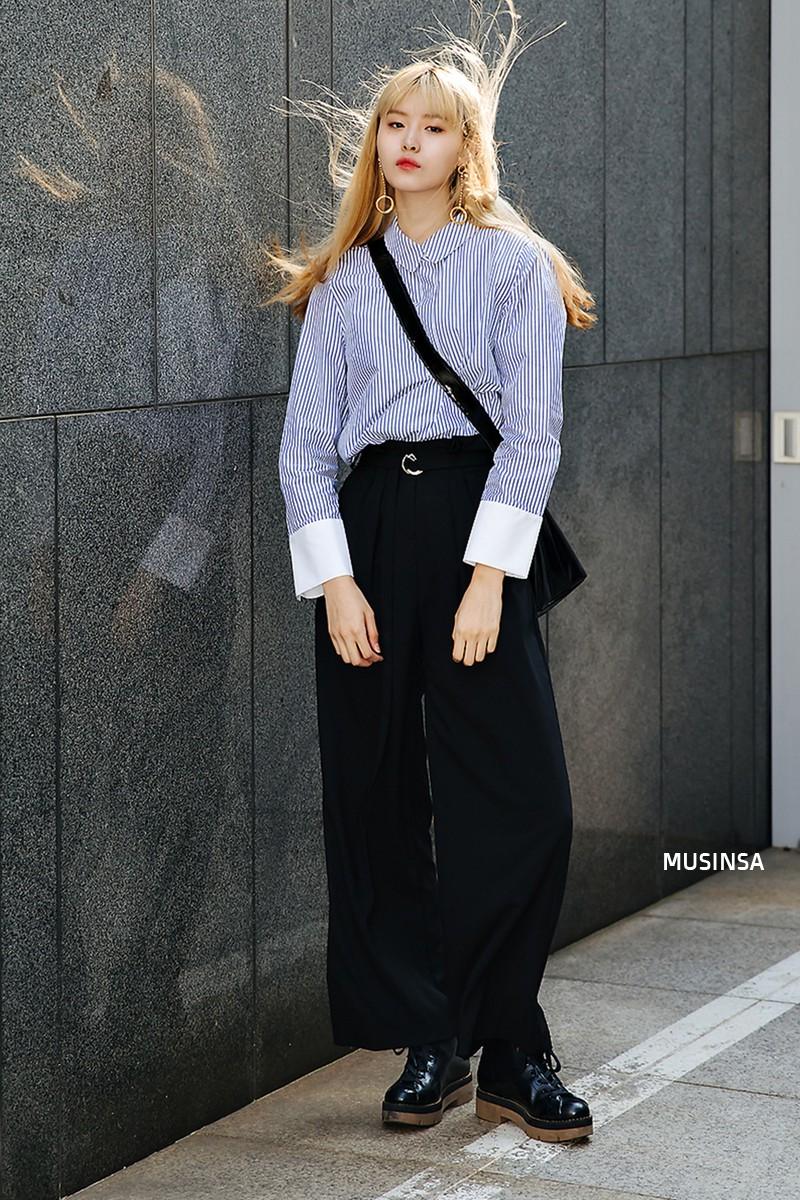 Sơ vin và quần cạp cao - 2 thần chú đơn giản nhưng hiệu nghiệm làm nên street style đẹp bá cháy của giới trẻ Hàn tuần qua - Ảnh 5.