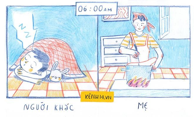 Một ngày của mẹ và một ngày của người khác: Cùng 24 tiếng đồng hồ mà sao khác nhiều đến thế - Ảnh 1.