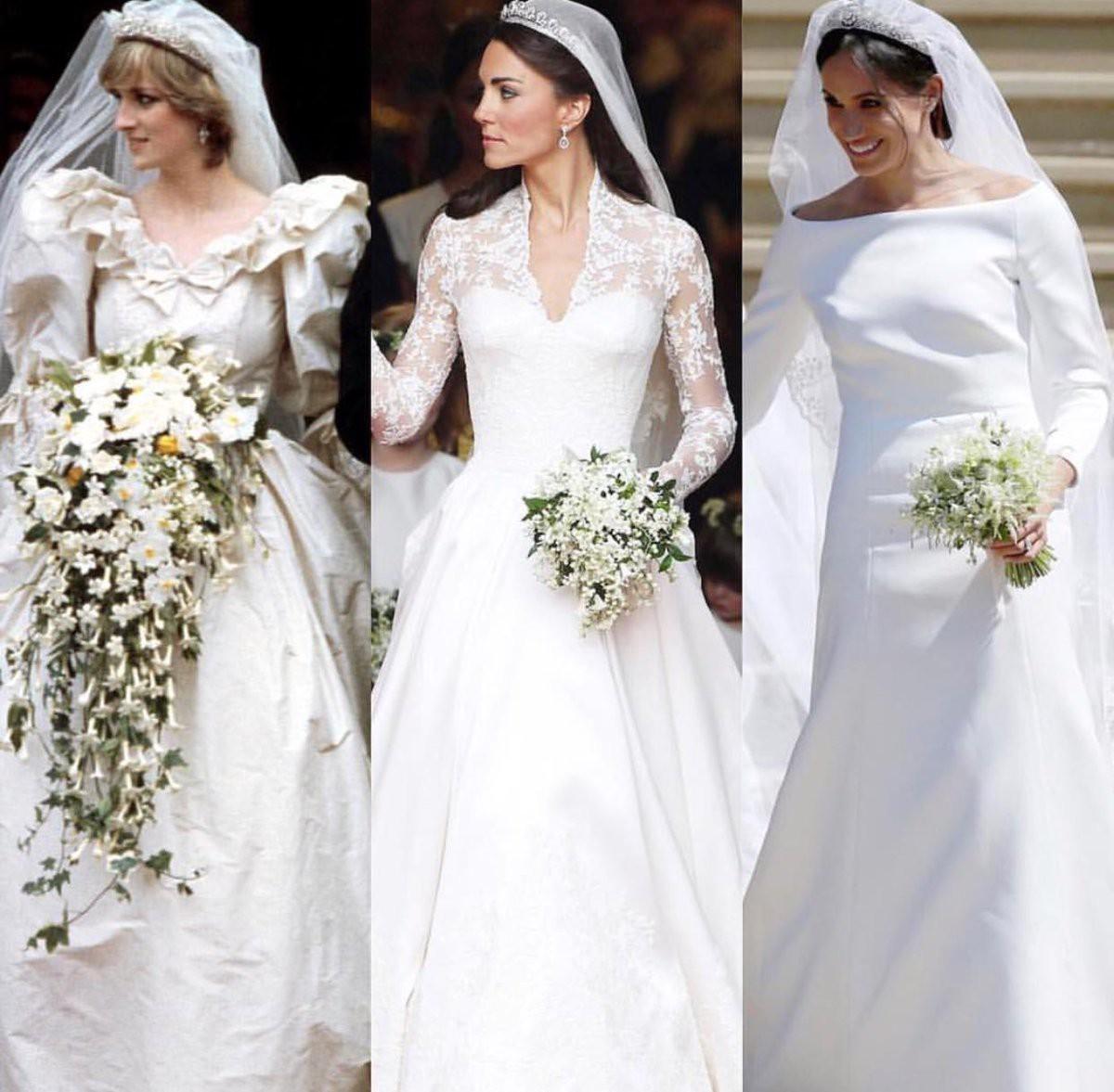 3 chiếc váy cưới nổi tiếng của Công nương Diana và hai cô con dâu xinh đẹp - Ảnh 2.
