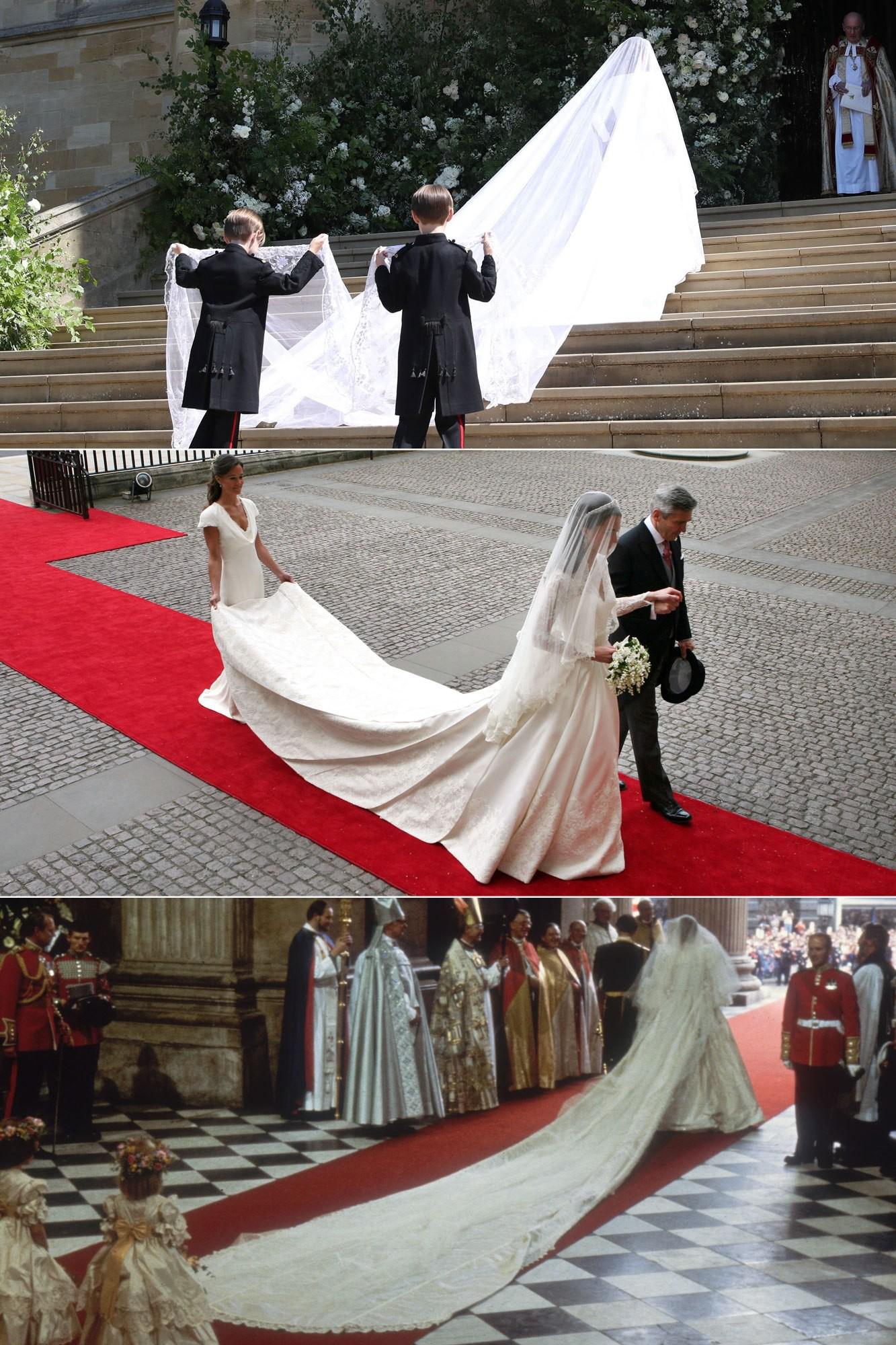 3 chiếc váy cưới nổi tiếng của Công nương Diana và hai cô con dâu xinh đẹp - Ảnh 3.