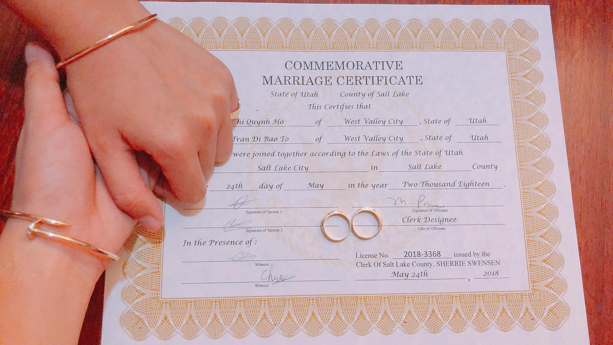 Tomboy Tô Trần Di Bảo đã kết hôn hợp pháp với bạn gái tại Mỹ - Ảnh 1.