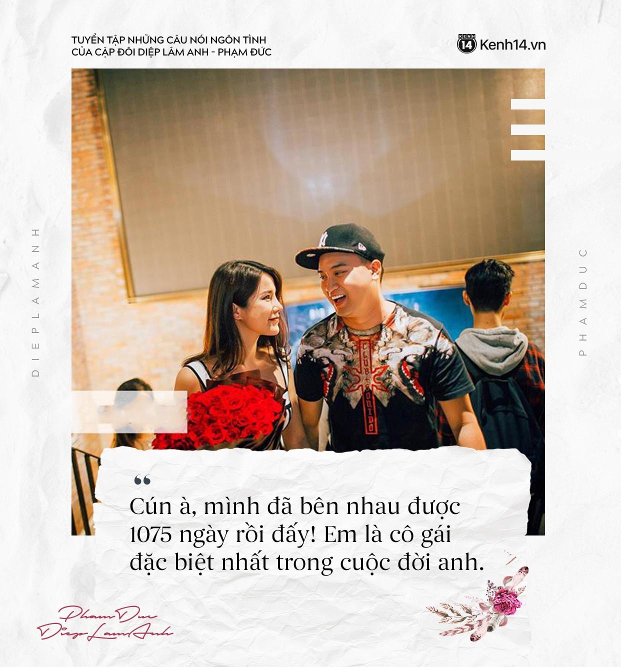 Loạt câu nói ngôn tình của chồng Diệp Lâm Anh khiến trái tim các chị em thổn thức - Ảnh 1.