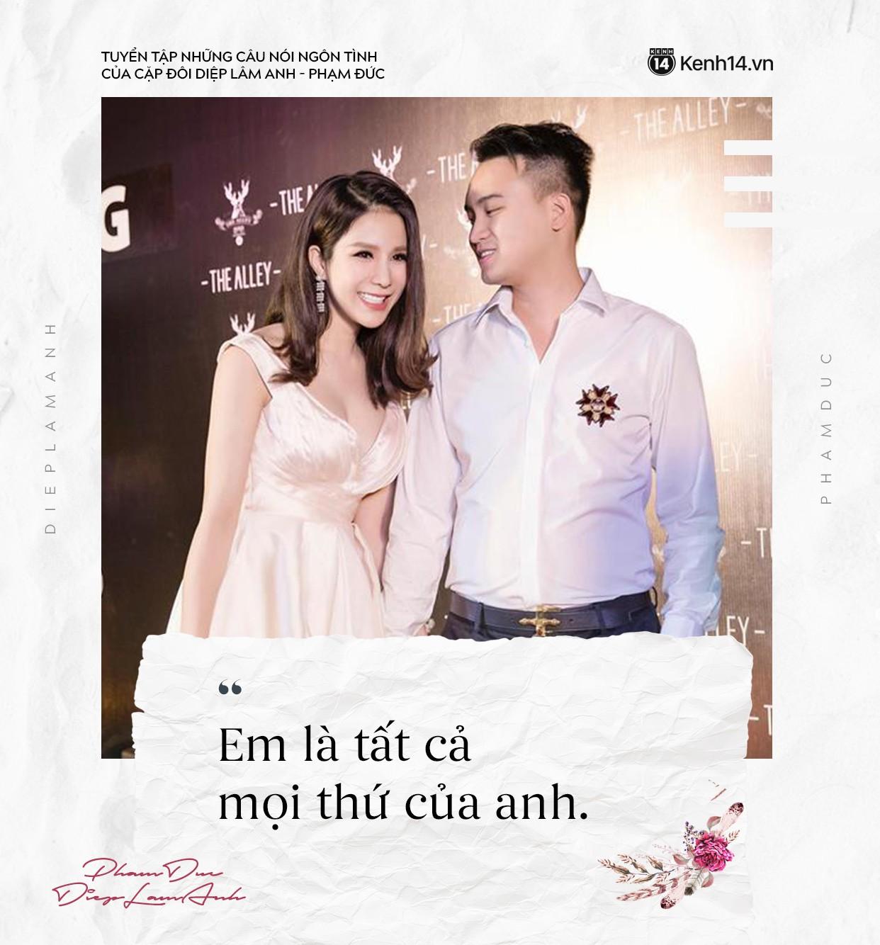 Loạt câu nói ngôn tình của chồng Diệp Lâm Anh khiến trái tim các chị em thổn thức - Ảnh 2.