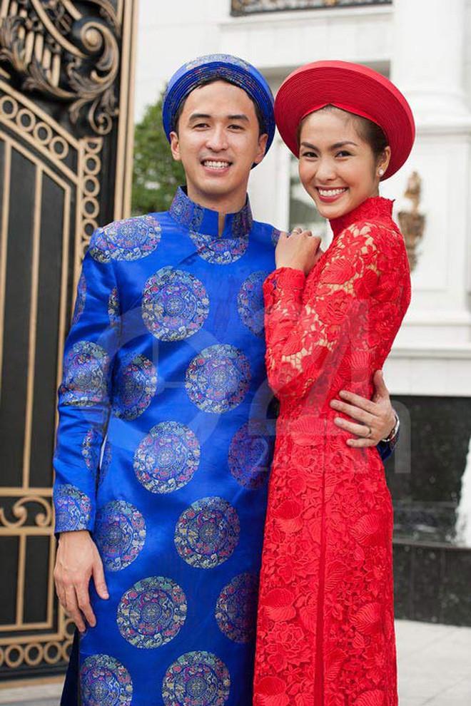 Nếu định chọn áo dài đỏ ngày ăn hỏi, hãy học tập Diệp Lâm Anh, HH Thu Thảo và Hà Tăng - Ảnh 11.
