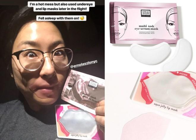 Lại là cô nàng ngày nào cũng đắp mặt nạ giấy, nhưng lần này là loạt chia sẻ về quy trình chăm sóc da trên máy bay - Ảnh 14.