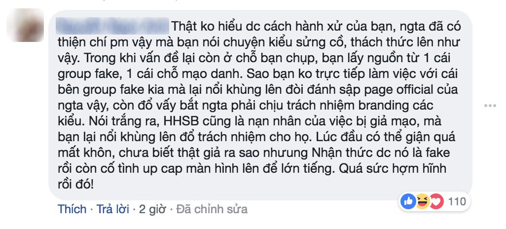 Dù biết là đọc phải page giả, Rocker Nguyễn vẫn chỉ trích và dọa fanpage HHSB xịn phải... tự giải quyết trong 24h - Ảnh 9.