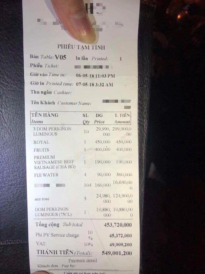 Hóa đơn đi bar gần 550 triệu đồng khiến cư dân mạng tranh cãi và phân tích thật giả dữ dội