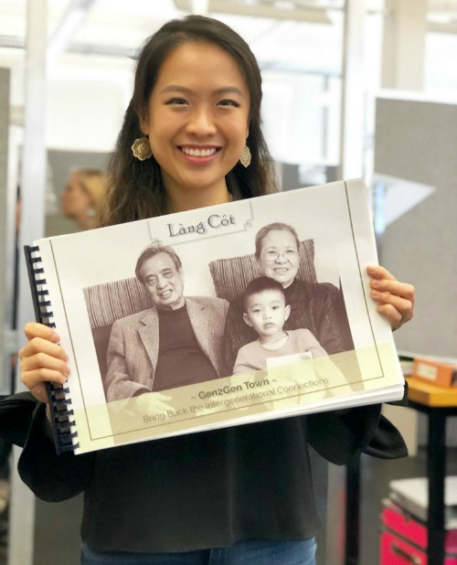 Xây dựng trung tâm chăm sóc người già và trẻ nhỏ từ cây tre, nữ du học sinh Việt đạt giải thiết kế tại Mỹ - Ảnh 1.