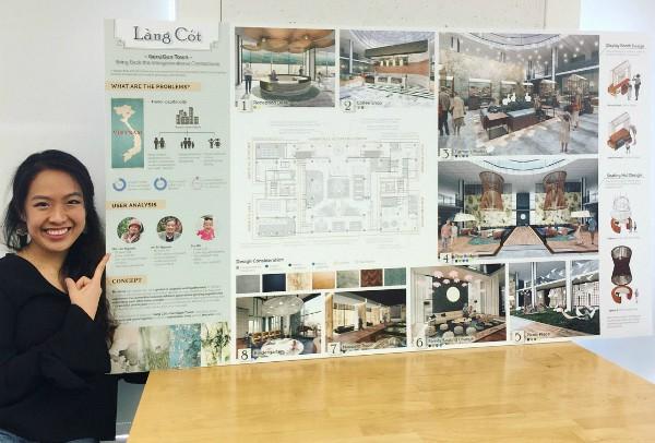 Xây dựng trung tâm chăm sóc người già và trẻ nhỏ từ cây tre, nữ du học sinh Việt đạt giải thiết kế tại Mỹ - Ảnh 2.