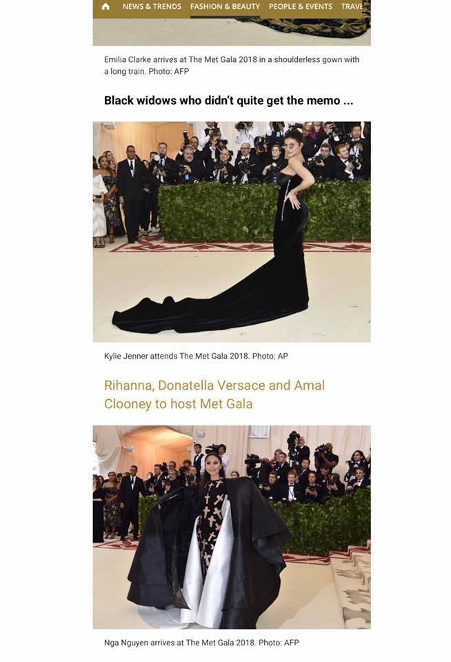 Phục sức quá ấn tượng tại Met Gala, Nga Nguyễn lên loạt báo chính thống và được đặt cạnh Kylie Jenner - Ảnh 2.