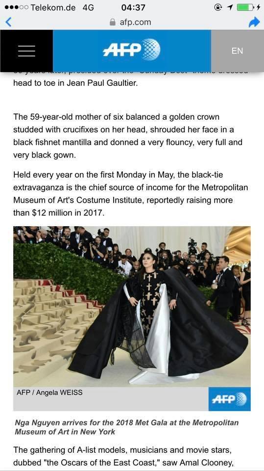 Phục sức quá ấn tượng tại Met Gala, Nga Nguyễn lên loạt báo chính thống và được đặt cạnh Kylie Jenner - Ảnh 3.