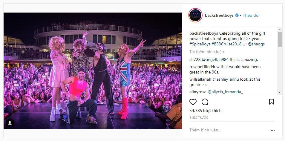 Backstreet Boys hóa... Spice Girls trong show diễn mới nhất - Ảnh 1.